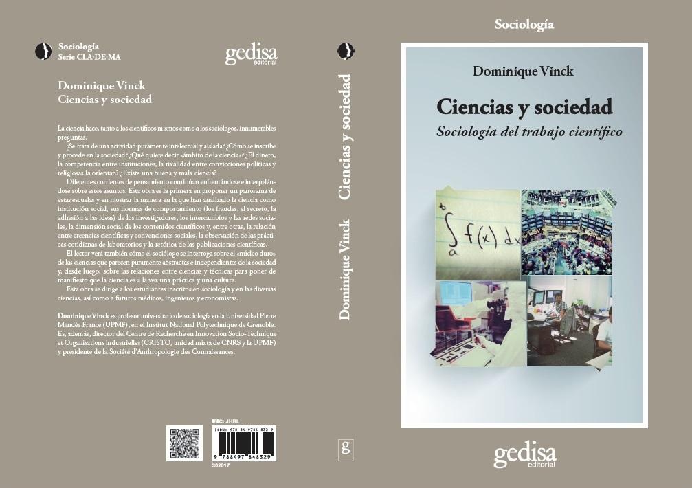"""Portada y contraportada libro """"Ciencias y sociedad"""""""